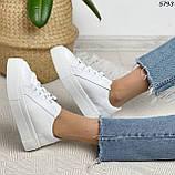 Женские кроссовки белые 5793, фото 9