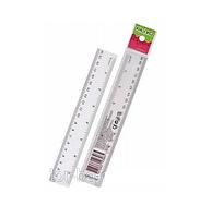 Линiйка 20 см, KN-32004 пластмассовая (36/864) (КНОПКА) Ш.К. 4823083103965