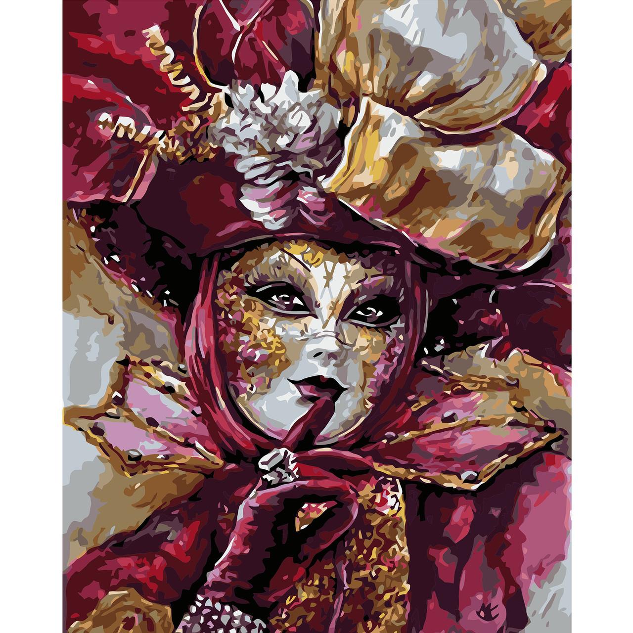 Картина по номерам Тайный карнавал 40 х 50 см Strateg VA 0749