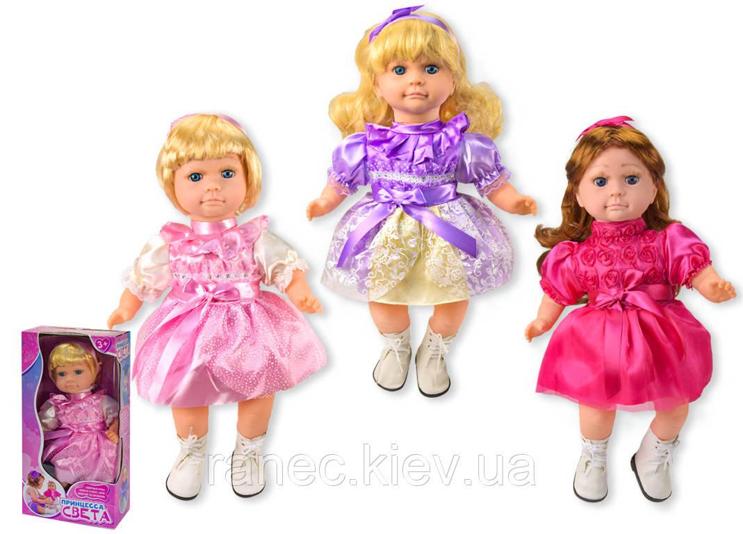 Кукла функц. Принцесса Света F02-21 3 вида, интеракт, кукла угадывает животных, в кор.22*12,5*45см