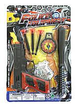 Полицейский набор игрушечный 7711-5, на планшетке 28*19 см