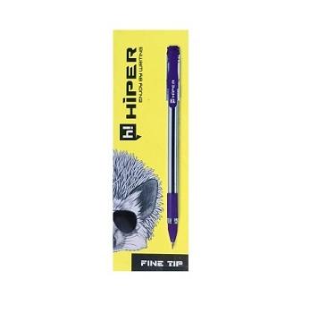 Ручка масляная Hiper Fine Tip - 111 (0.7мм) фиолет. 10шт / уп.