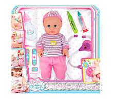 Кукла 32 см. с интерактивным набором врача; 3+