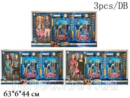 Кукла 29см ZR-098-1A/2A/4A с парнем 3цв.3шт.в кор.63*6*44 /3/54/