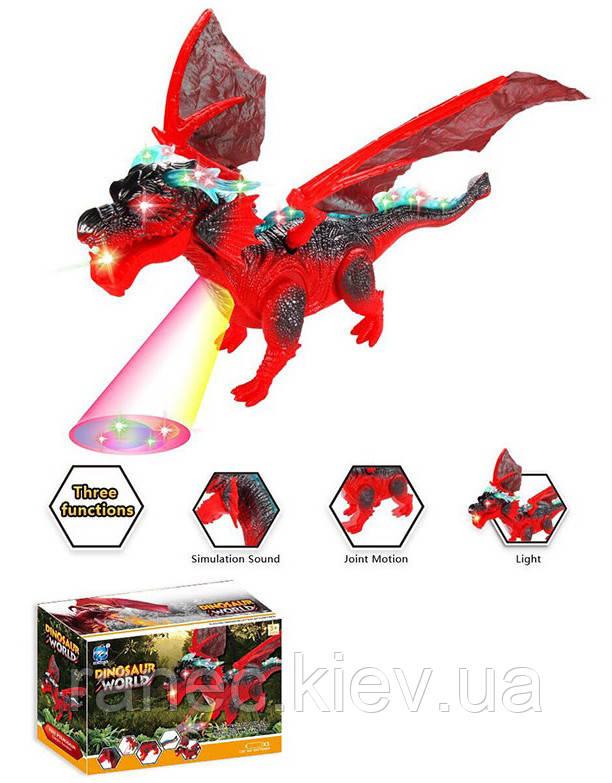 Животное на р/у 9919 Дракон, пульт, свет,звук,проектор, в коробке