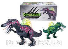 Интерактивное животное  KQX-33 Динозавр,ЧЕРНЫЙ , батар., свет, со звуком, ходит, движ. ртом,