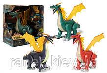 Интерактивное животное WS5308 (1543527) динозавр,3 цвета,батар.,свет,звук,в коробке 30*19*27см