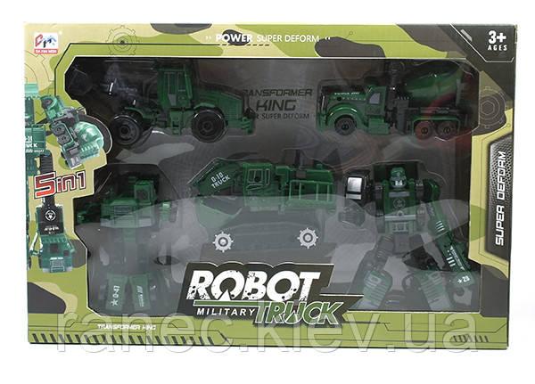 5 в 1 игровой набор робот трансформер, в коробке 27х40х8см