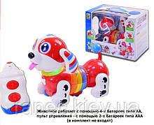 Музыкальная развивающая игрушка Собачка BB396 на батарейках лает реагир на прикоснов в кор 34,5*18*25см