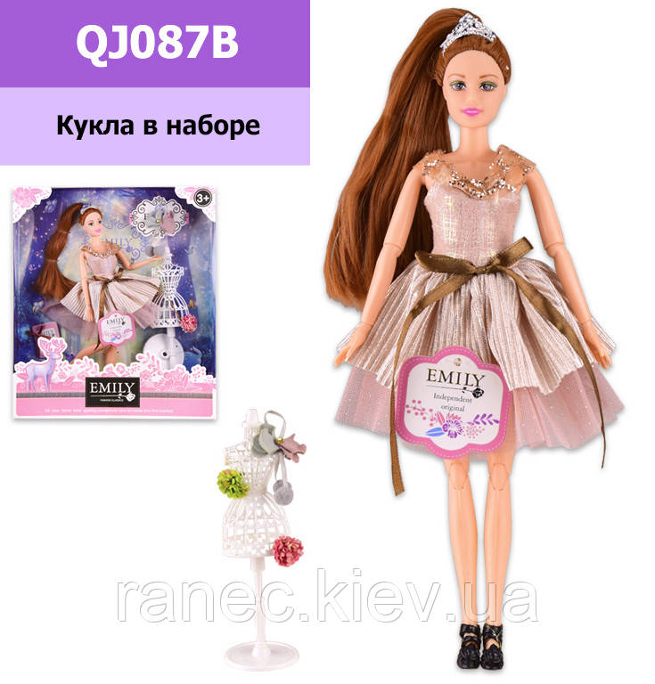 Кукла Emily QJ087B  с аксессуарами, шарнирная, р-р куклы - 29 см, в кор. 28.5*6.5*32.5 см