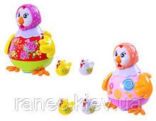 Музыкальная развивающая игрушка курочка 6102 2 цвета,батар , свет, звук, от свиста, в кор 28*22*21см