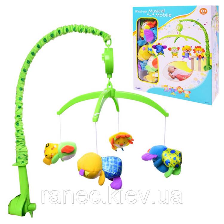 Детская музыкальная подвеска карусель мобиль 81533 (1381308)  мягкие игрушки, муз.в кор. 29*9*37см