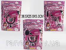 Парикмахерский набор игрушечный MDX663-1/2/3 (1544321/2/3)  3 вида,фен,расческа…на планш.38,5*25*5см