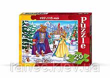 Пазлы 20 деталей картонные сказки Danko Toys
