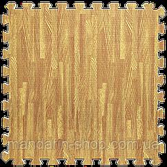 Модульное напольное покрытие пол пазл 600*600*10 Дерево золотое