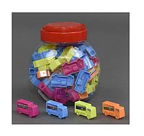 Точилка пластиковая 24 машинкамикс цветов 9-10-7 см. Арт. TR014