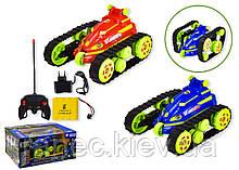 Перевертыш игрушечная машинка на радиоуправлении аккум.р/у JT317  гусеничный вездеход, 2 цвета, в коробке