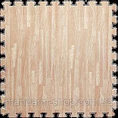 Модульное напольное покрытие пол пазл 600*600*10 Дерево розовое