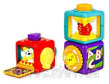 Музыкальная развивающая игрушка кубики интерактивные JL-8871 логика, развитие моторики, в коробке 21,5*11*19,5