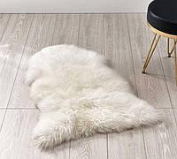 100% овечья шкура белая,110*70см, ковер натуральный кожаный из меха овчины