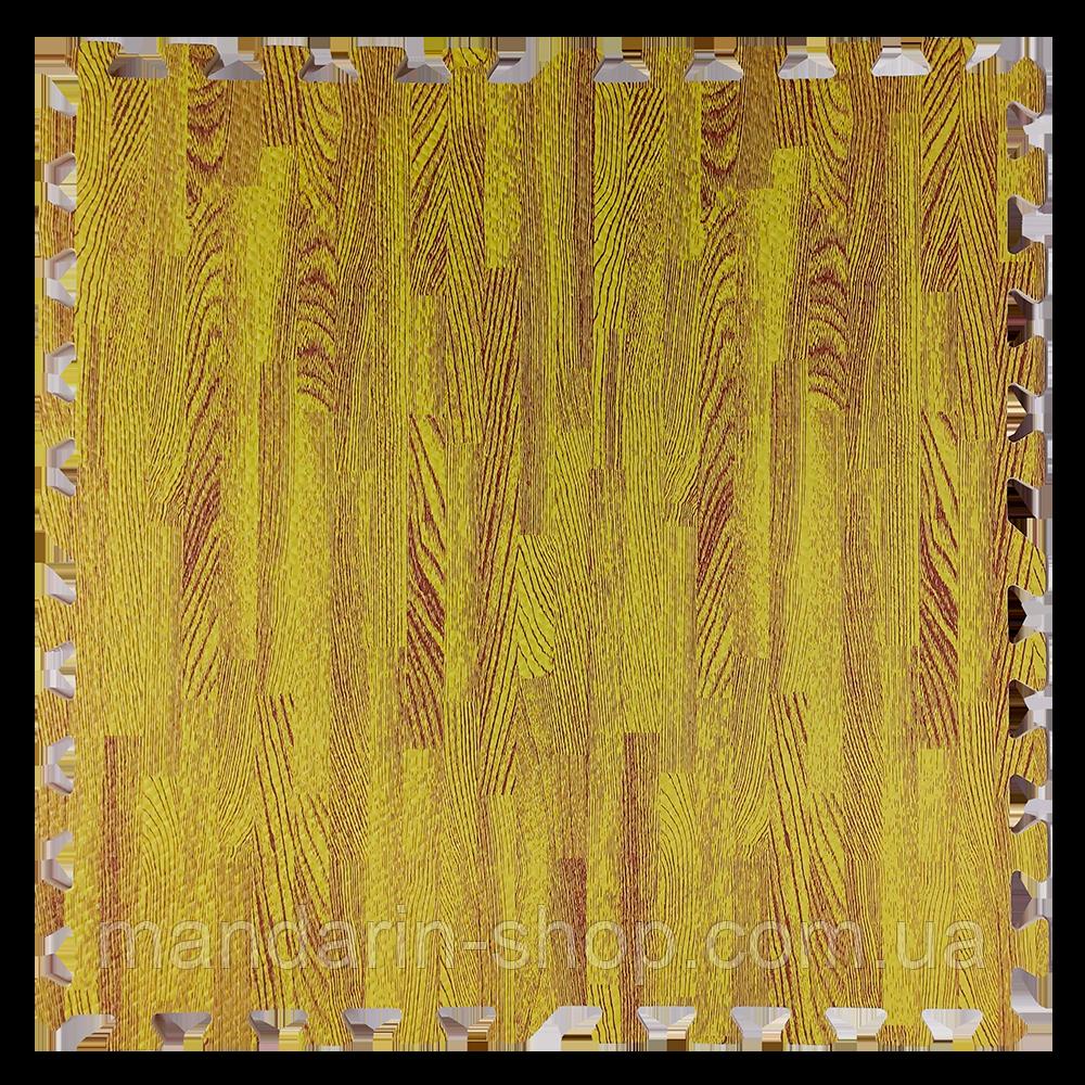Модульное напольное покрытие пол пазл 600*600*10 Дерево желтое