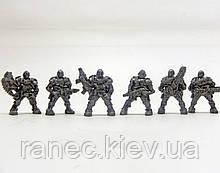 Набір Бронепехота Бонусний загін №2 без коробки (6 воїнів/ колір металик), Fantasy