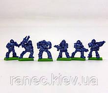 Набір Бронепехота Ополченці планети Веліан без коробки (6 воїнів на під./ колір синій), Fantasy