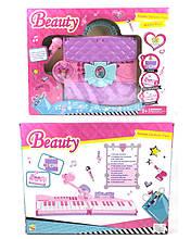 Музыкальный синтезатор детский пианино 106A батар.,сумка-трансформер,с микрофоном,в кор. 61*51*18см