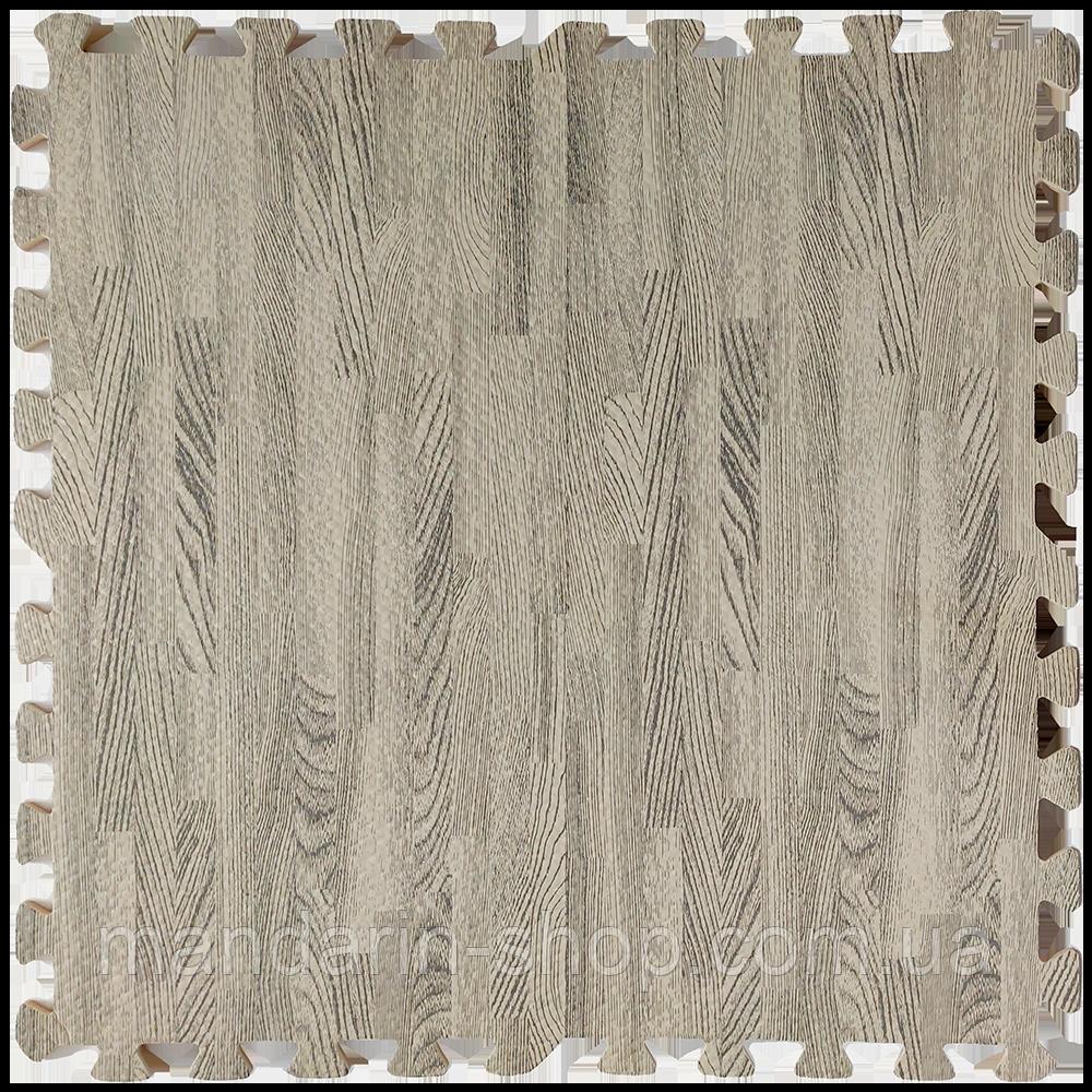 Модульное напольное покрытие пол пазл 600*600*10 Дерево серое