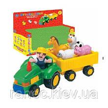 Музыкальная развивающая игрушка Умка 1274-R Трактор, батар , в короб