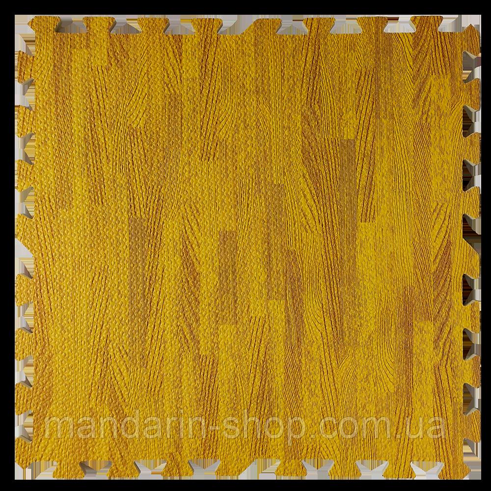 Модульное напольное покрытие пол пазл 600*600*10 Дерево янтарное