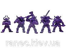 Набір воїнів Рота Варяг без коробки (5 воїнів/ колір бузковий), Fantasy