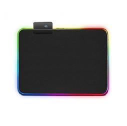 Игровой компьютерный коврик с RGB подсветкой для мыши 25 * 30 см