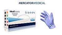 Перчатки нитриловые неопудренные IDEALL NITRILE BLUE Mercator Medical (синие) L