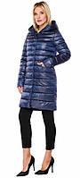 Женская осенне-весенняя сапфировая куртка с рисунком модель 18225