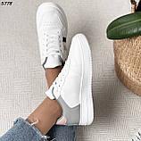 Женские кроссовки белые с серым 5778, фото 3