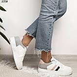 Женские кроссовки белые с серым 5778, фото 4