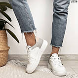 Женские кроссовки белые с серым 5778, фото 5