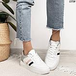 Женские кроссовки белые с серым 5778, фото 6