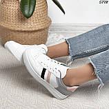 Женские кроссовки белые с серым 5778, фото 7