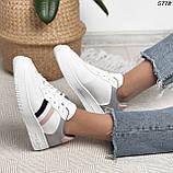 Женские кроссовки белые с серым 5778, фото 8