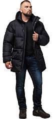 Зимняя мужская черная куртка большого размера модель 3284