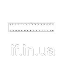 Лінійка прозора 15см, ST00306