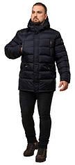 Куртка большого размера для мужчин зимняя темно-синяя модель 12952