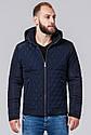 Куртка осенне-весенняя мужская темно-синего цвета модель 2686, фото 4