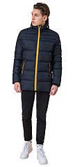 Подростковая куртка зимняя цвет темно-синий-оранжевый модель 71293
