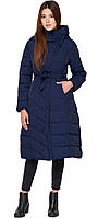 Зимняя куртка синяя женская с капюшоном модель DR23
