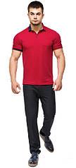 Футболка поло мужская красная модель 6073