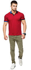 Оригинальная футболка поло красная мужская модель 6990