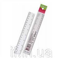Лінійка 20см KN-32004 пластмасова (36/864) (КНОПКА) ш.к.4823083103965